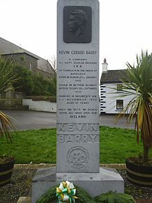 Kevin Barry memorial at Rathvilly church